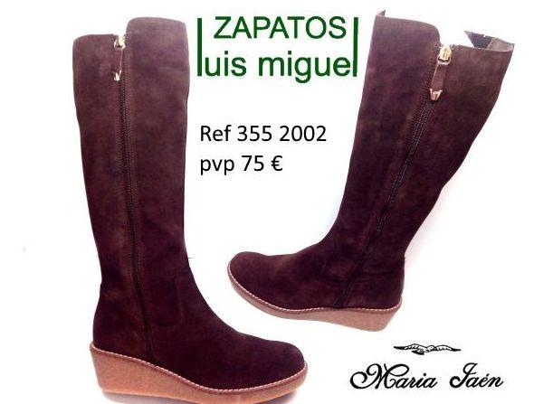botas de serraje marron Maria Jaen: Catalogo de productos de Zapatos Luis Miguel