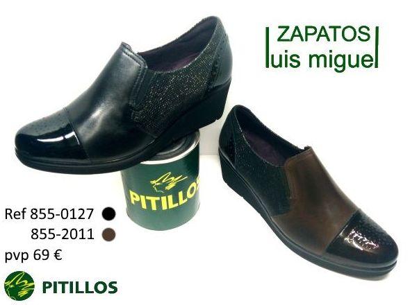 zapatos con cuña y elastico en dos colores ( ref 855 0127 y 855 2011): Catalogo de productos de Zapatos Luis Miguel