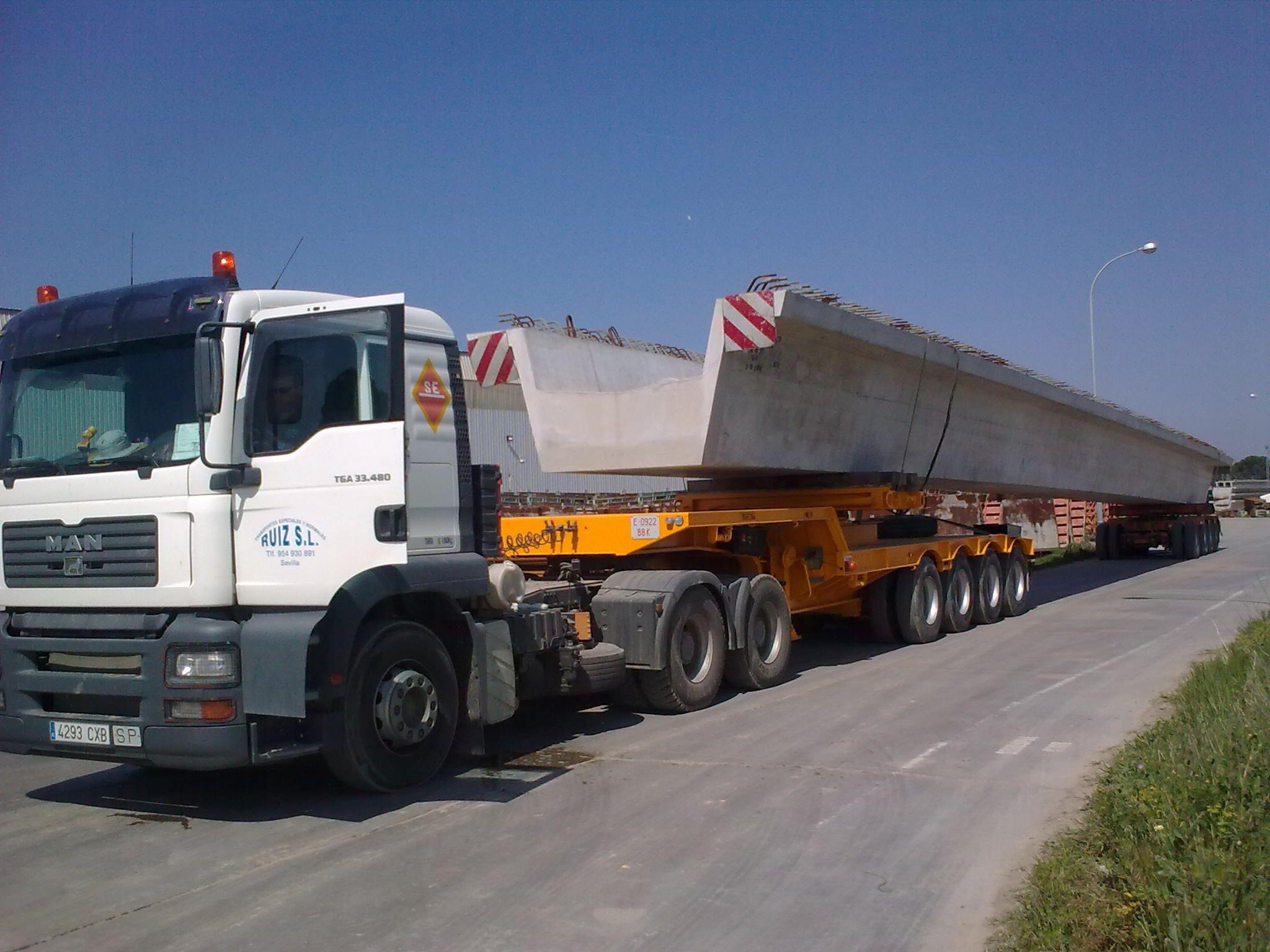 Transportes para trabajos de obra civil