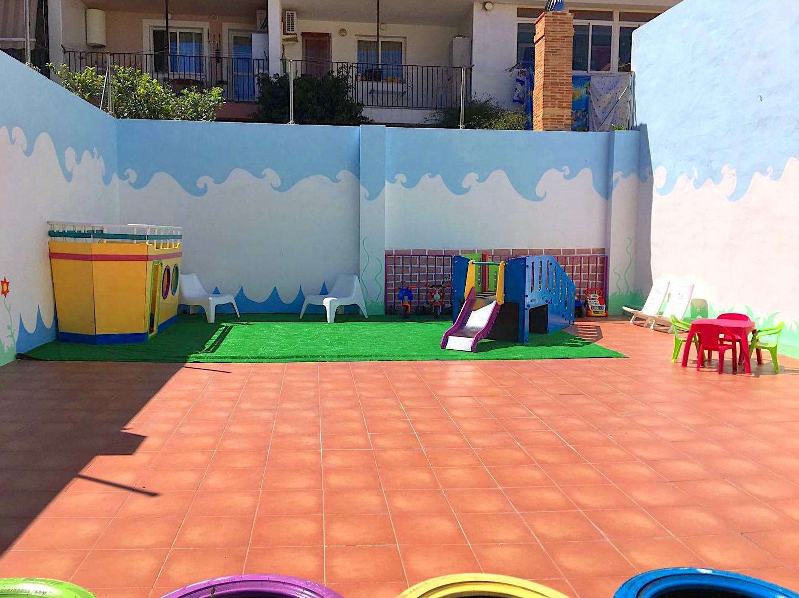 Zona de juegos en terraza