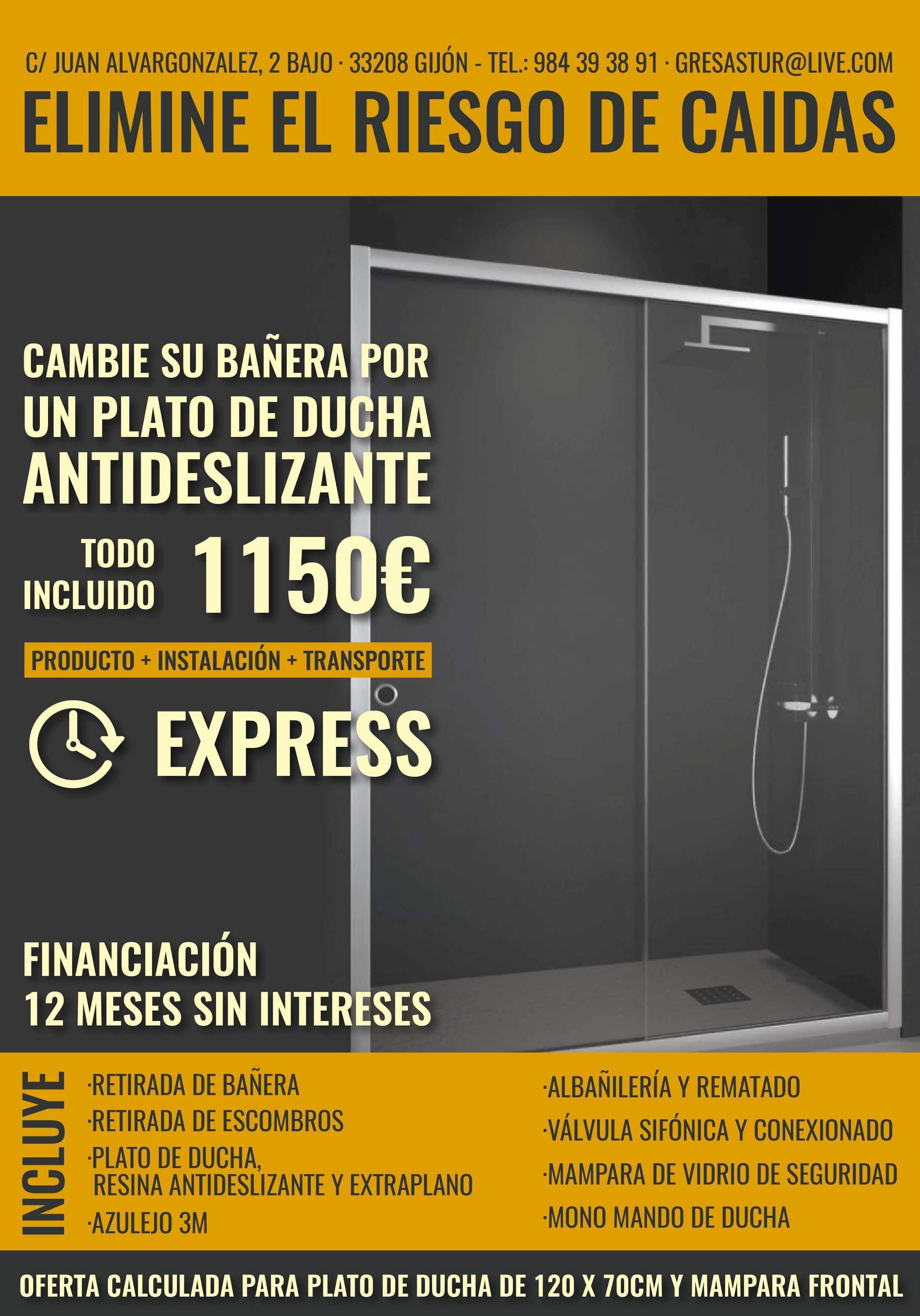 """""""STOP CAIDAS """" Instalación de  ducha antideslizante: Ofertas para reformar su hogar of Gres Astur"""