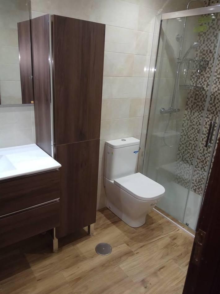 Reforma de cuarto de baño realizada por Gresastur en Gijon