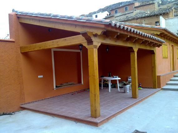 Estructura madera en Ariza