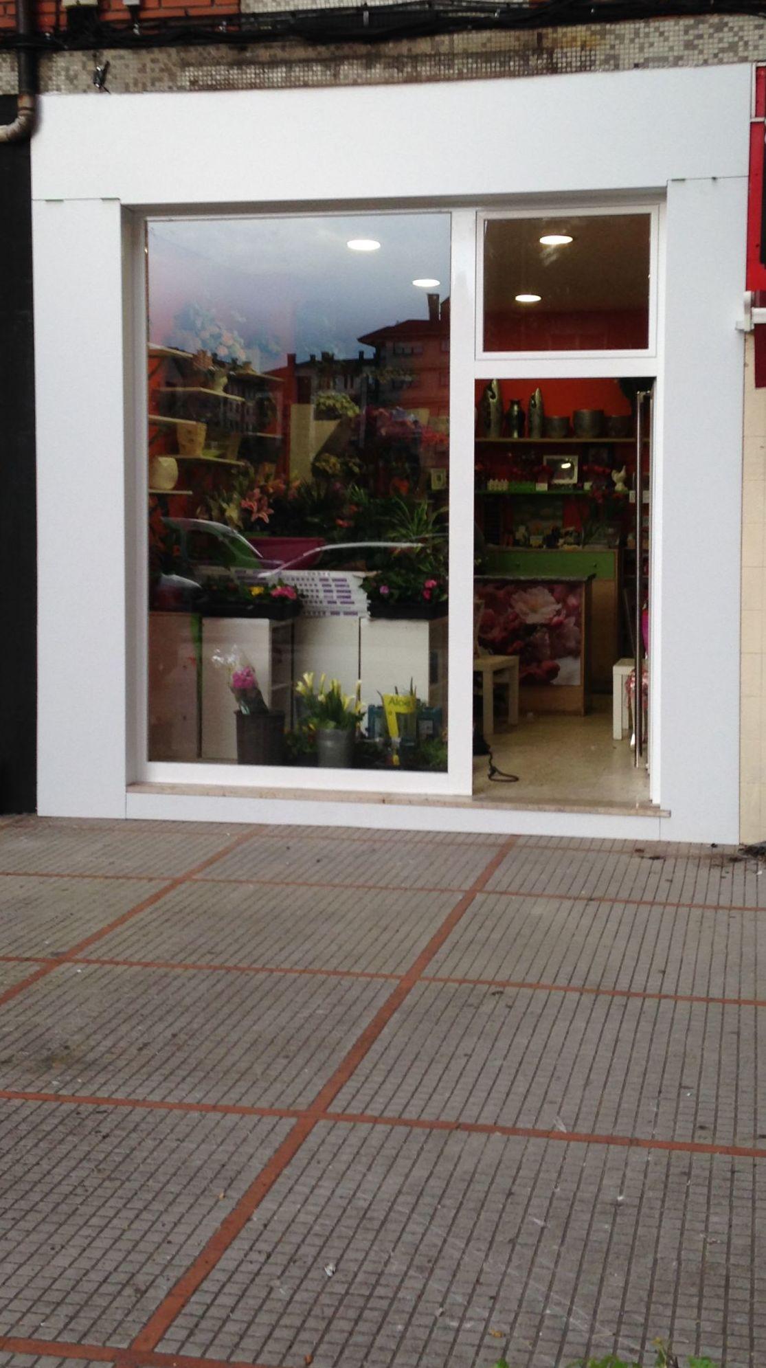 Escaparates y recubrimiento de fachadas Gijón Asturias