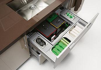 Organizador cubo de basura ecologico