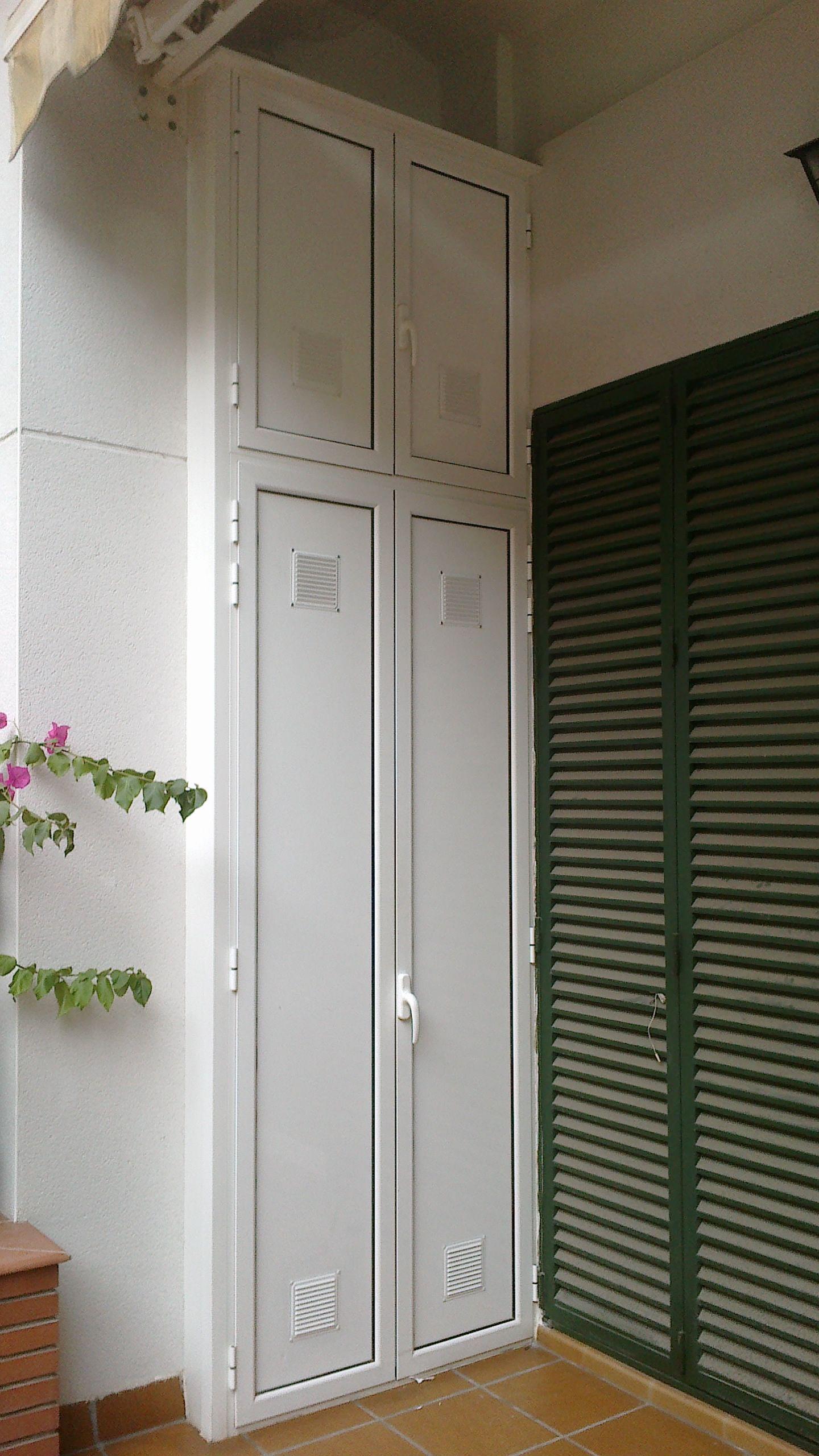 Foto 7 de carpinter a de aluminio met lica y pvc en for Armario para balcon exterior