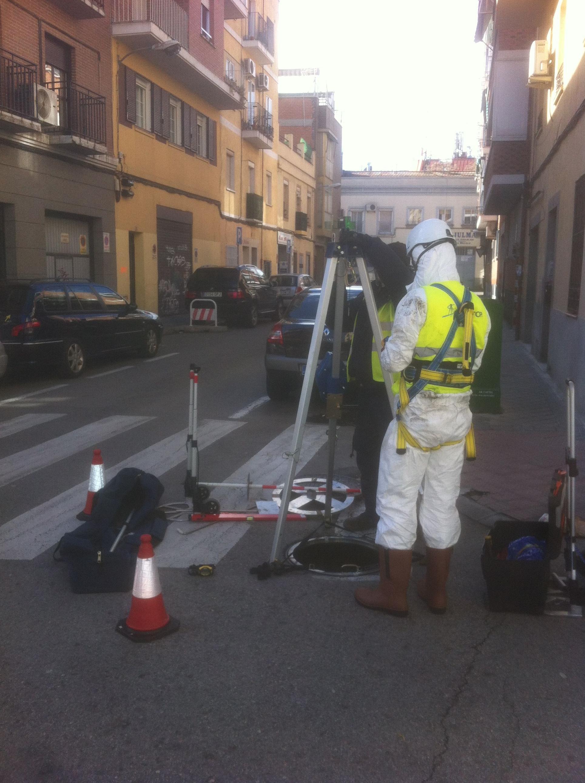 Trabajos de Inventariado de la Red de Saneamiento del Canal de Isabel II en Madrid