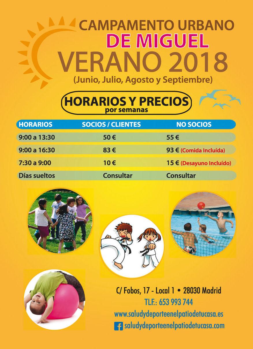 CAMPAMENTO VERANO : Nuestras actividades de Salud y Deporte en el Patio de tu Casa