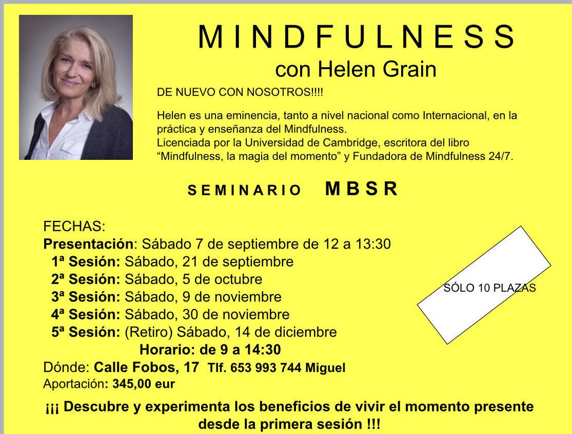 MINDFULNESS CON HELEN GRAIN: Nuestras actividades de Salud y Deporte en el Patio de tu Casa