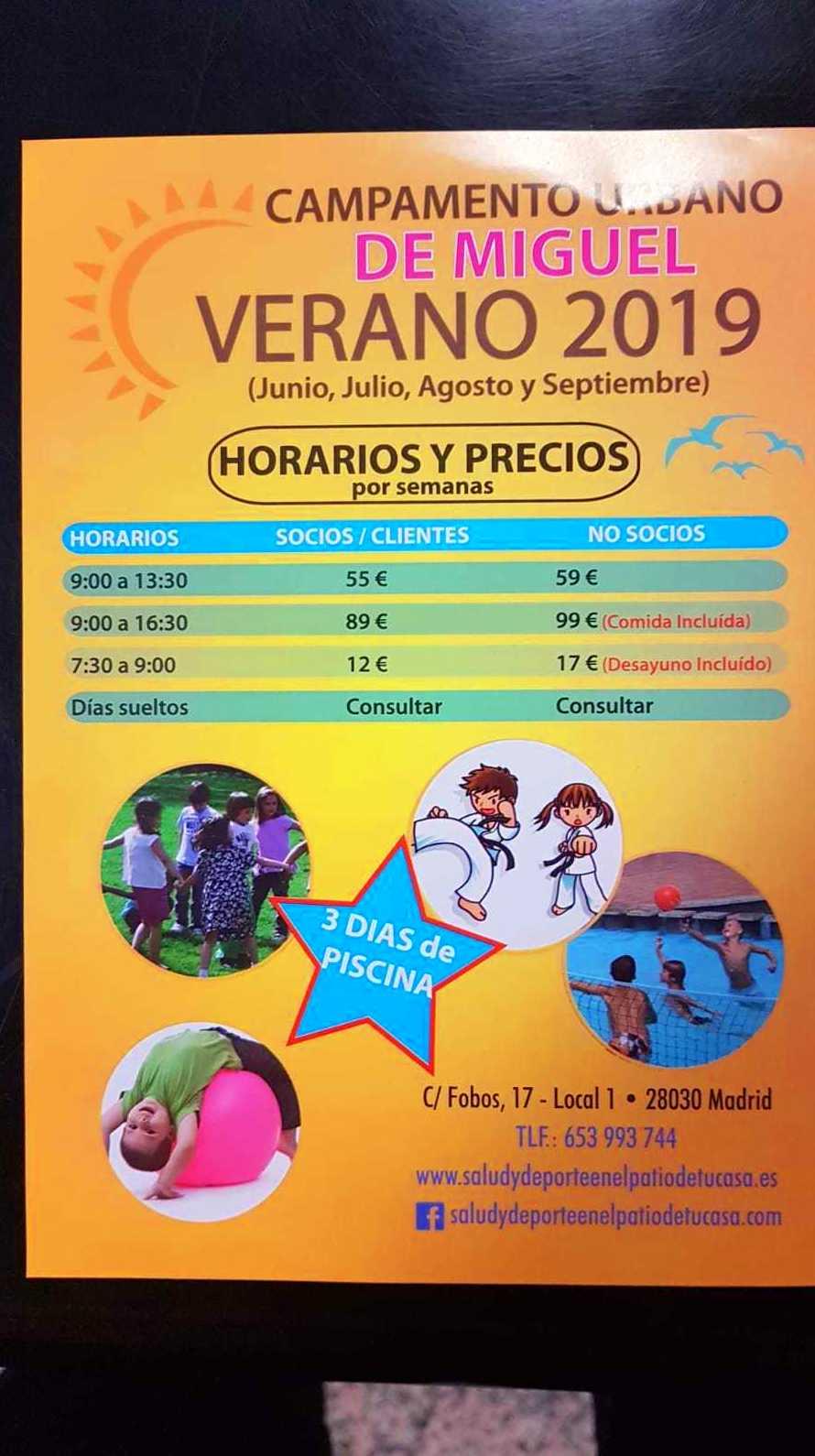 CAMPAMENTO URBANO VERANO: Nuestras actividades de Salud y Deporte en el Patio de tu Casa