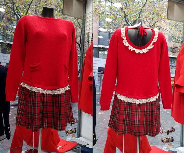 Juvenil y original el escote en la espalda de nuestro vestido