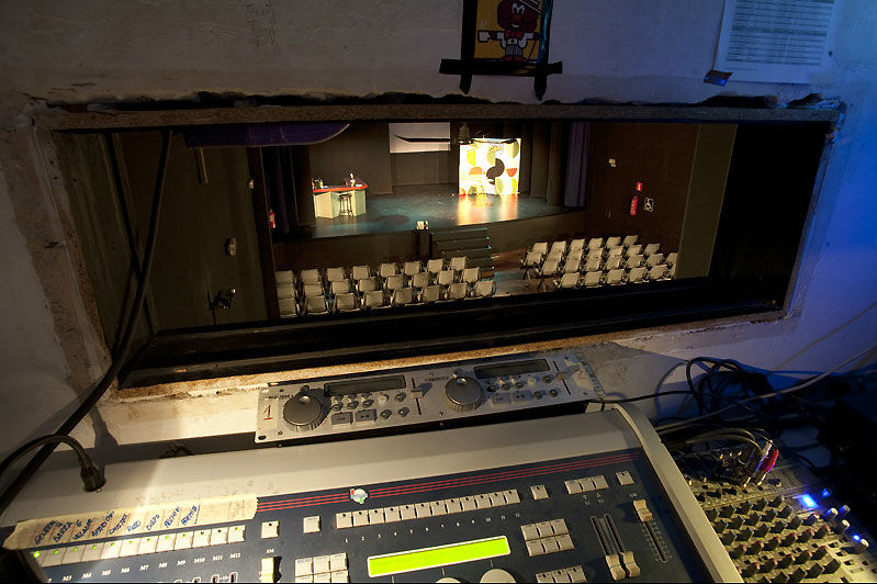 Sala Cero Teatro, cabina de control