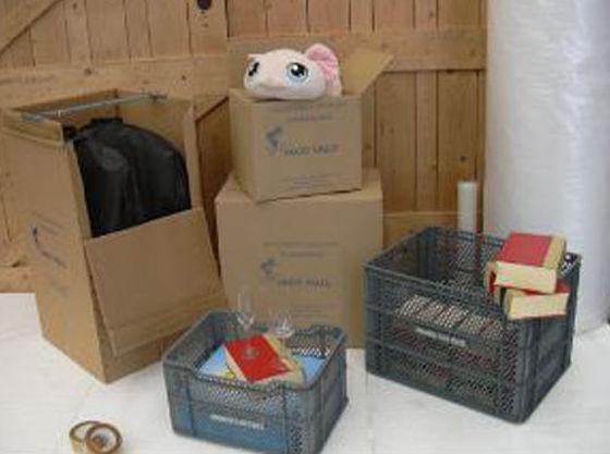 Cajas  de cartón para embalaje de varios tamaños