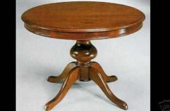 Mesa con pata central
