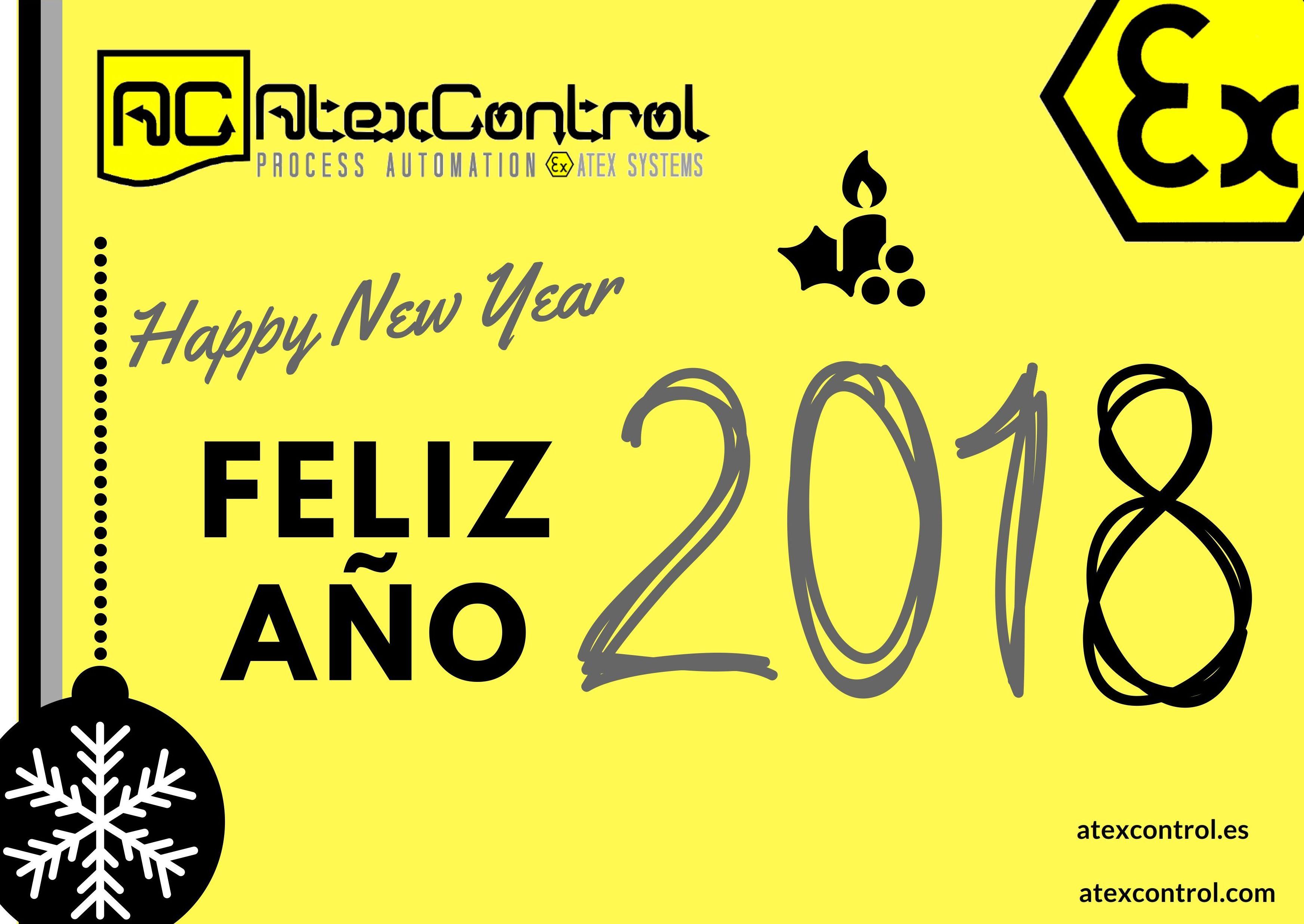 El equipo de ATExControl les desea un Feliz 2018