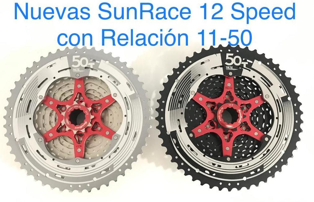 SUNRACE 12 SPEED CON RELACION 11-50: Productos de Bultaco & Bike Doctor