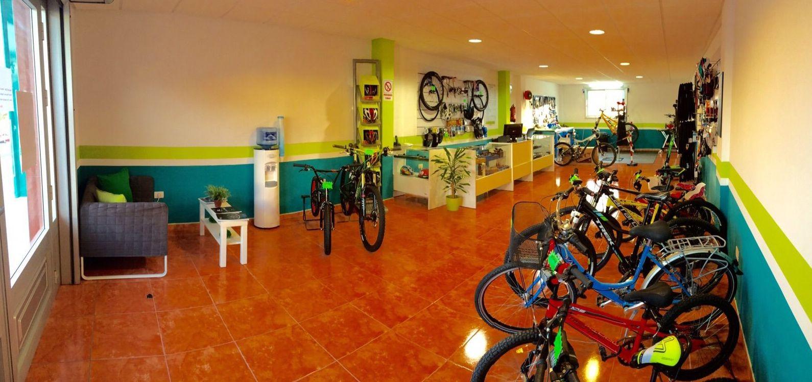 Tienda de bicicletas en Tenerife
