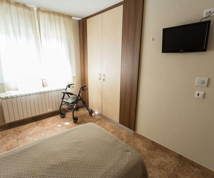Habitación individual en la residencia