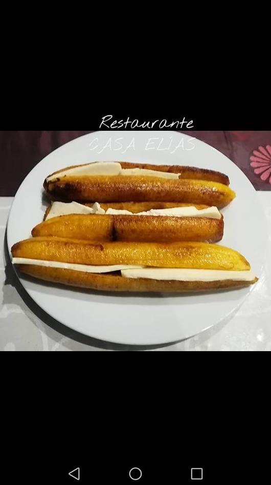 Platano frito con queso 1 unidad 3€