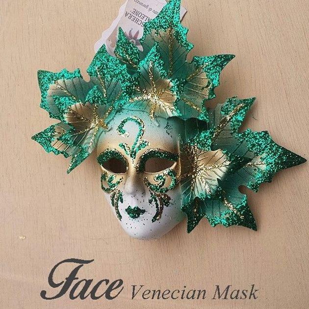 Máscara de otoño en cerámica