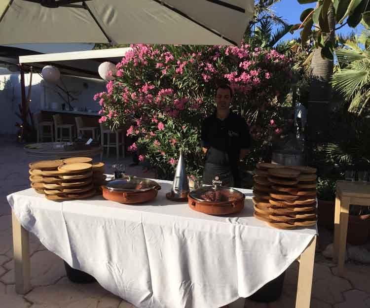 Servicio de pulpo para eventos en Ibiza