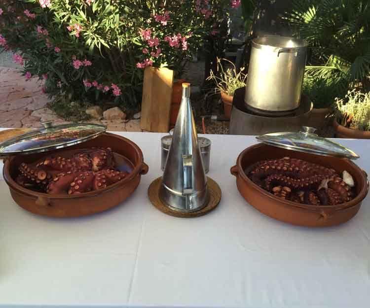 Pulpo para eventos en Ibiza