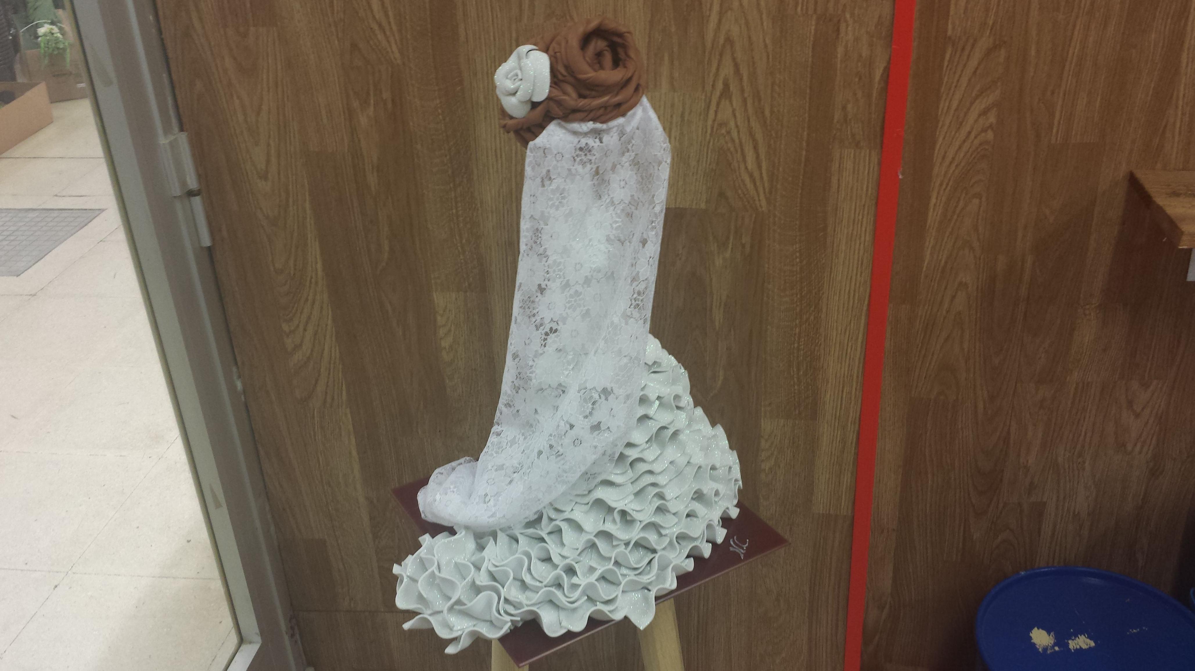 Muñeca fofucha de espaldas