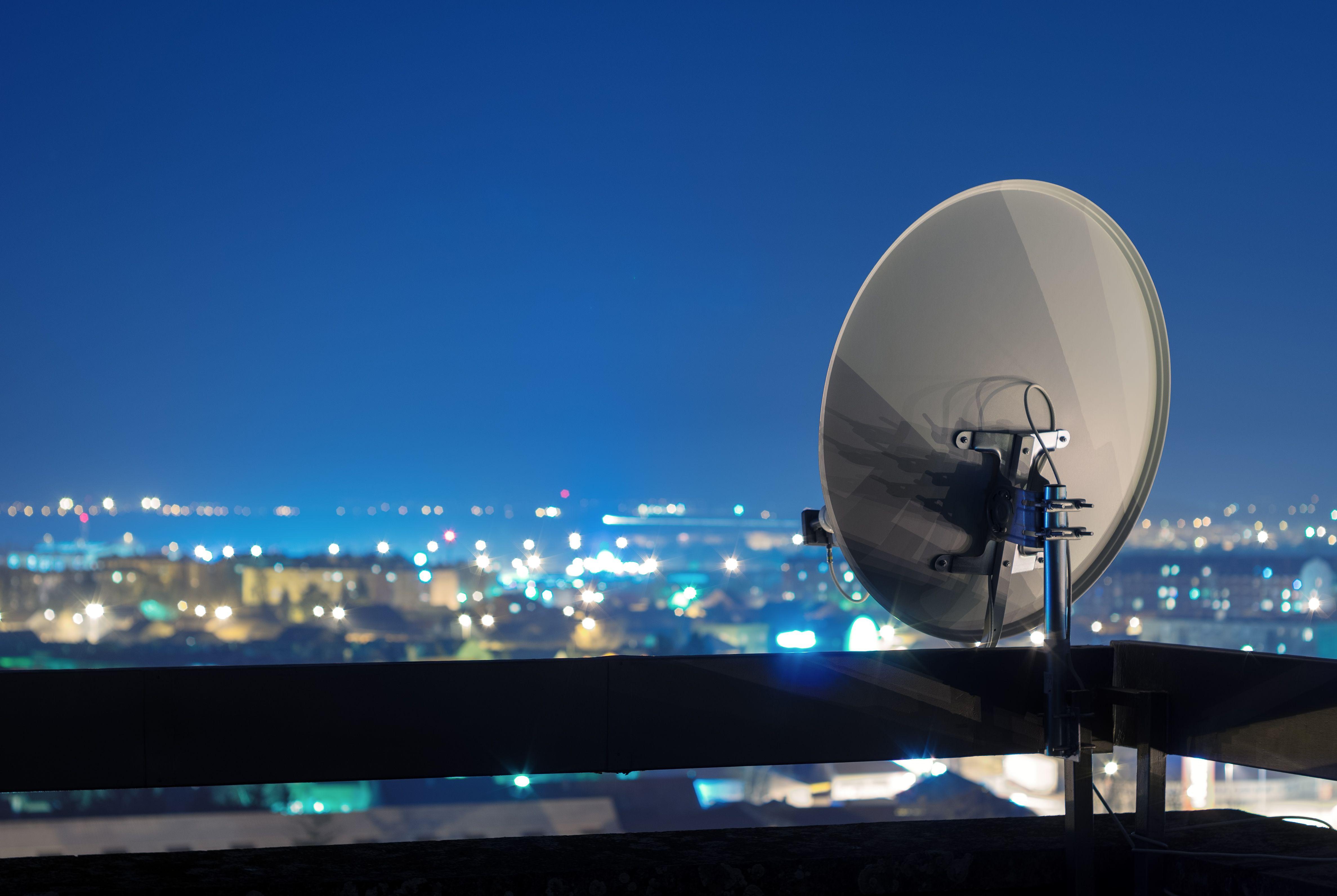 Antenas parabólicas en Girona