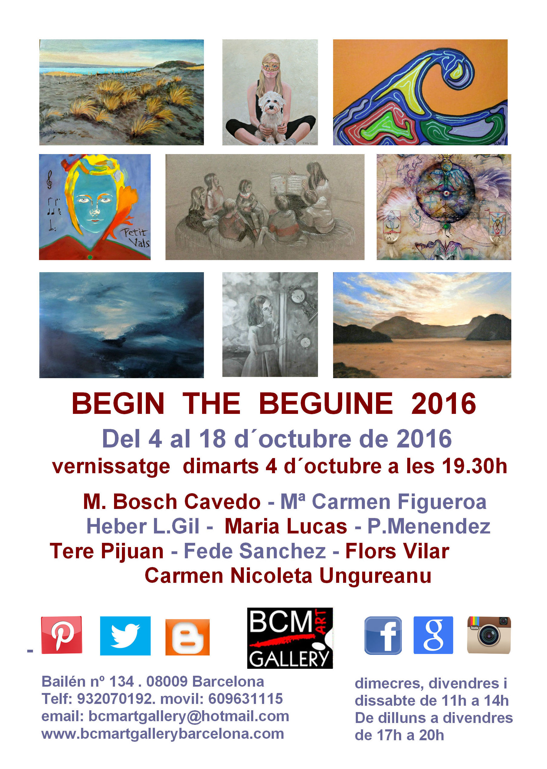 BEGIN THE BEGUINE: Exposiciones y artistas  de BCM Art Gallery