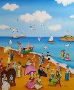 Playa. oleo/tela.