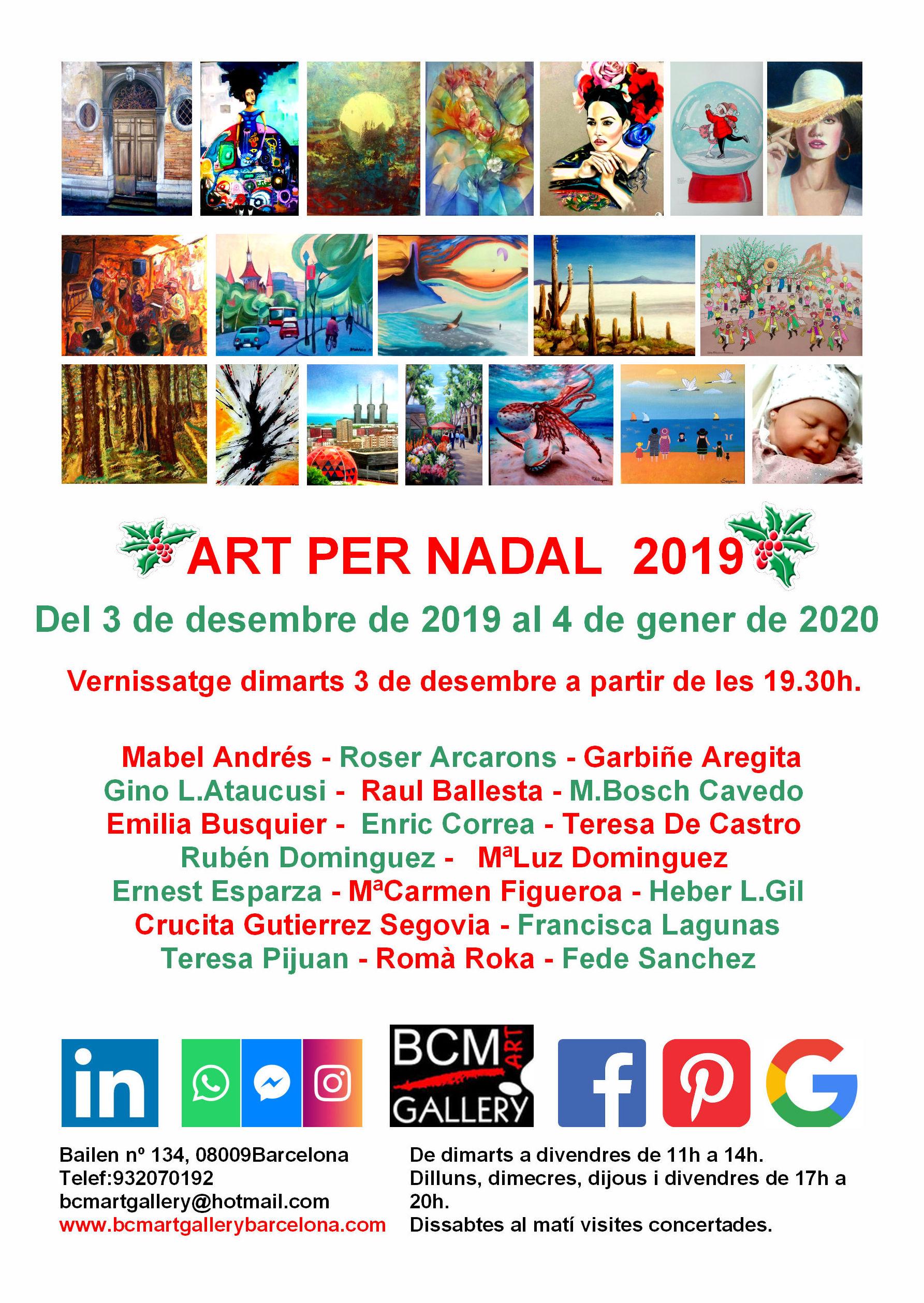 ART PER NADAL 2019: Exposiciones y artistas  de BCM Art Gallery