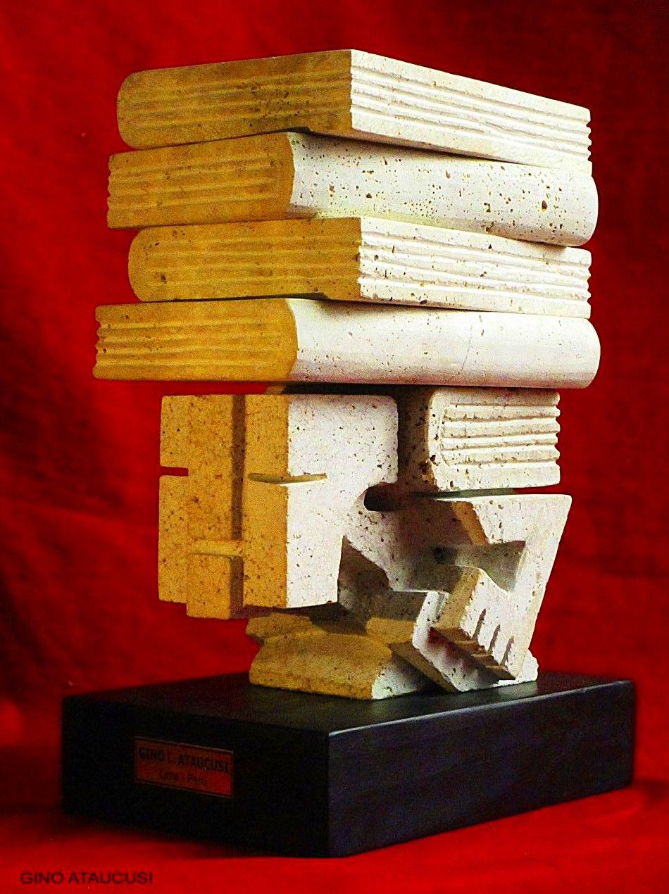 El peso del saber. Piedra tallada.