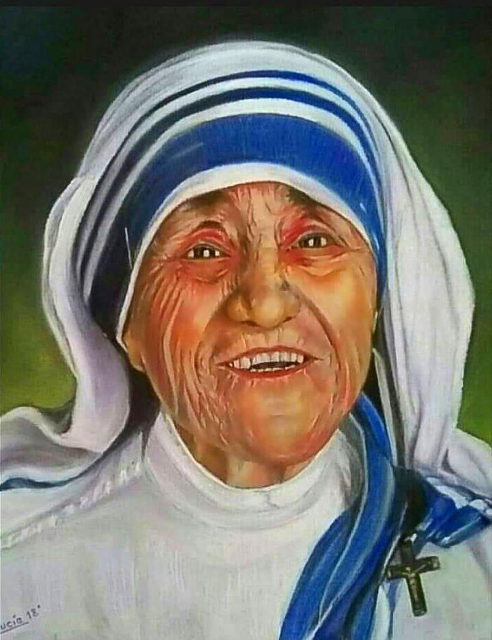 Homenaje a la Madre Teresa de Calcuta. Glicee. Obra original a consultar.