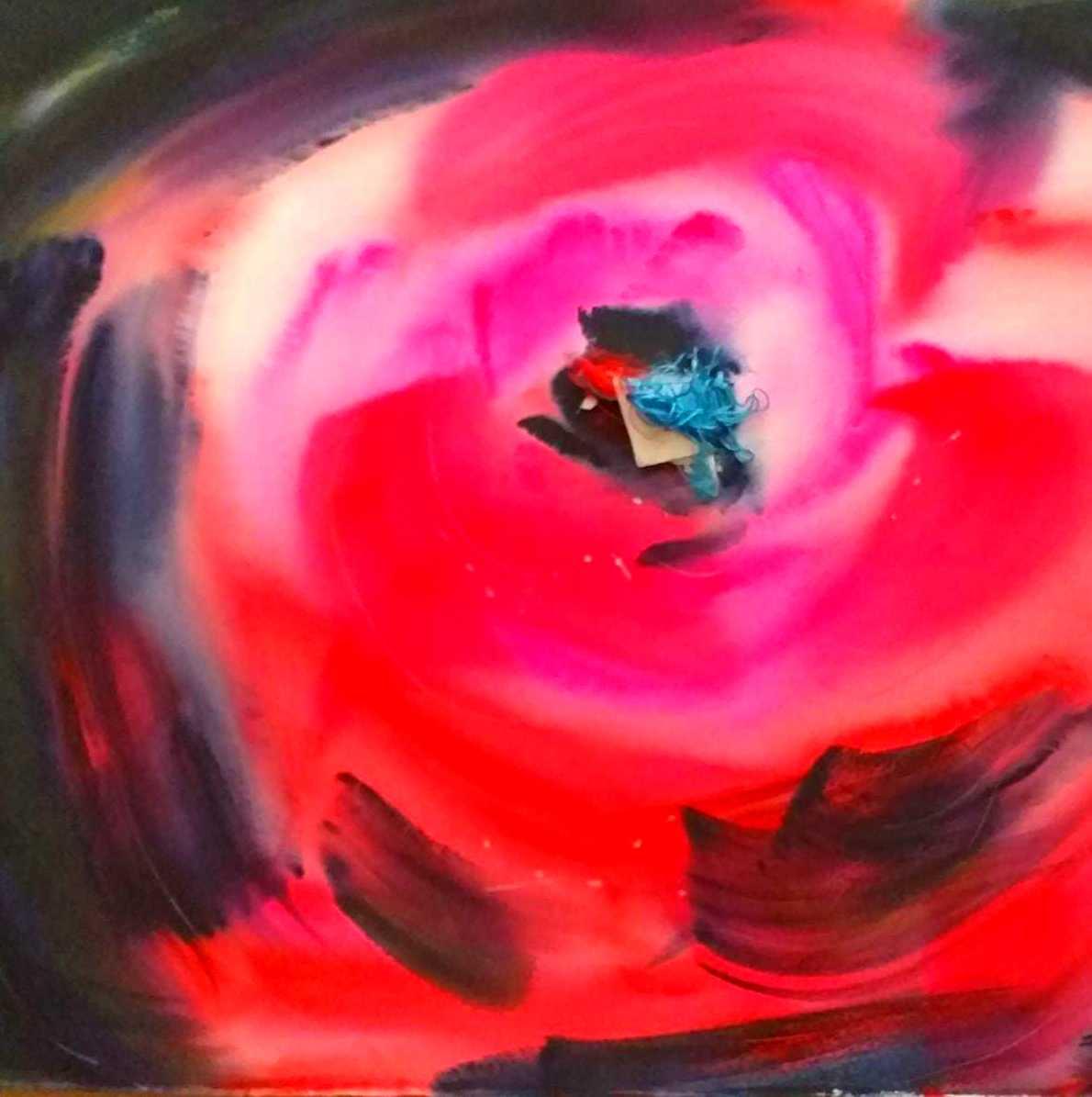 Rosa. aquarella i fil de seda/paper. 56x76cm. 1500€.