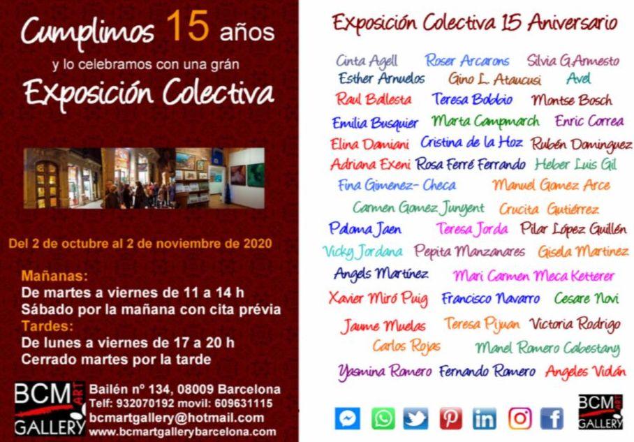 Exposición aniversario XV años de la galería.