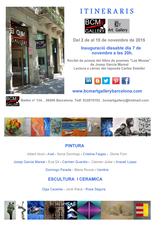 "Cartel de l Exposición "" Itineraris"""