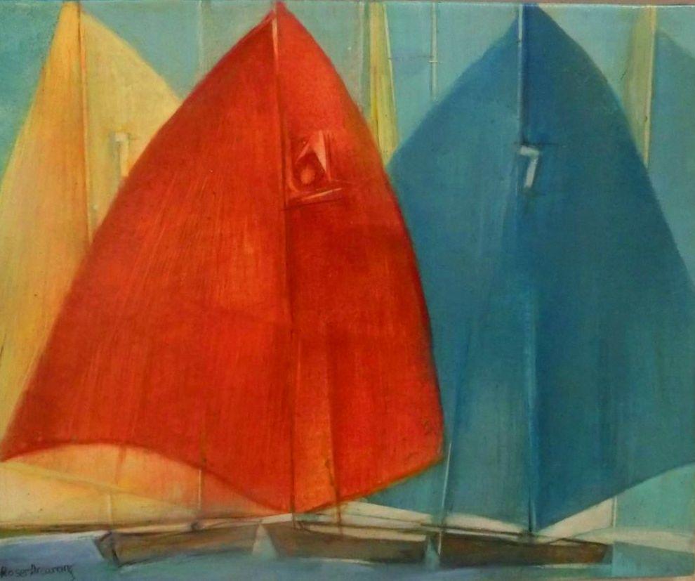VELAS. pintura al temple sobre madera 20x27cm. 250€