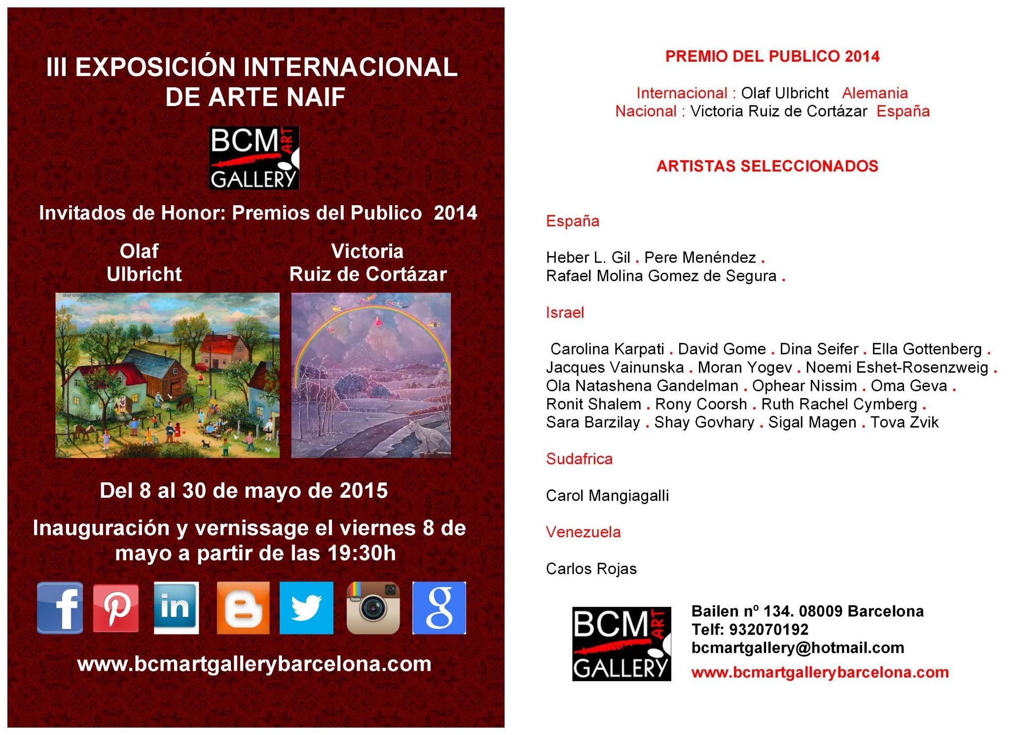 Poster de la III Exposición Internacional de Arte Naif 2