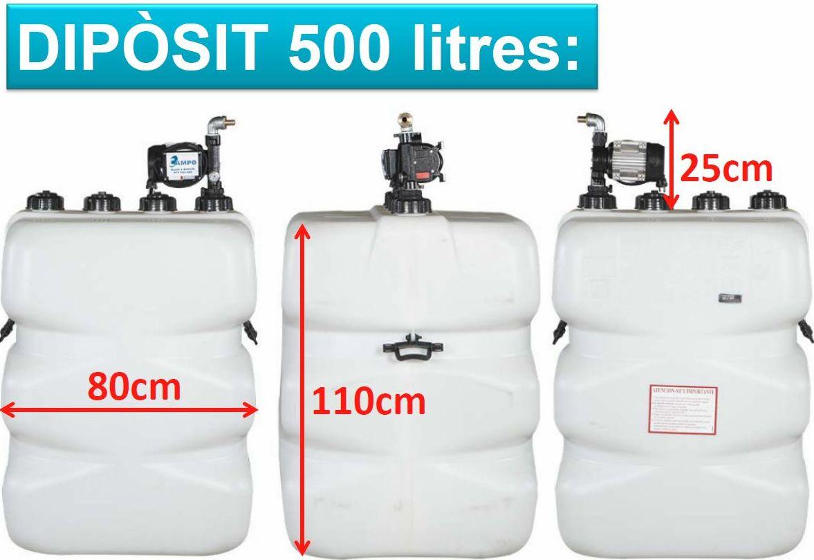Modelo depósito de 500 litros