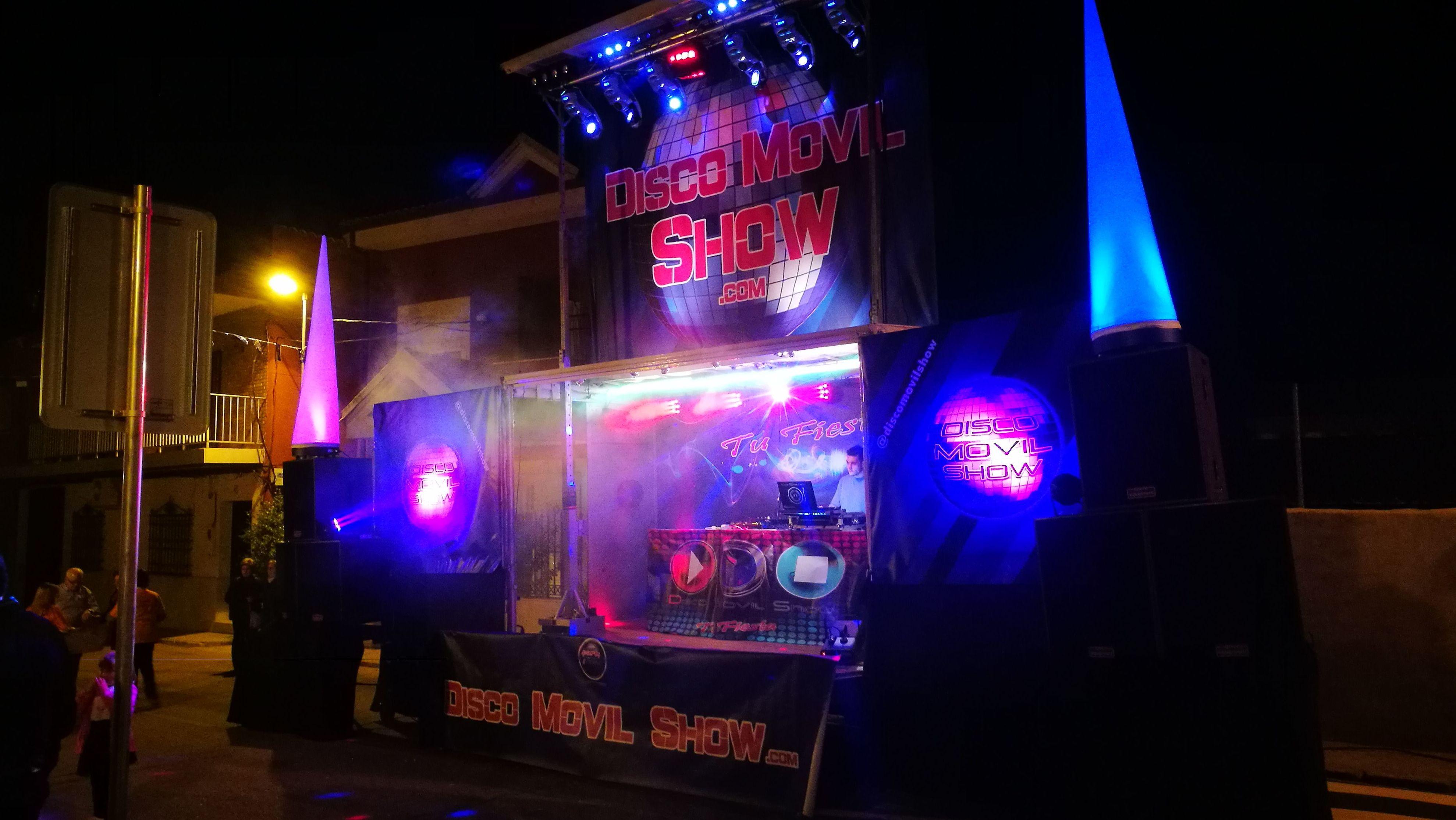 Camión escenario para eventos