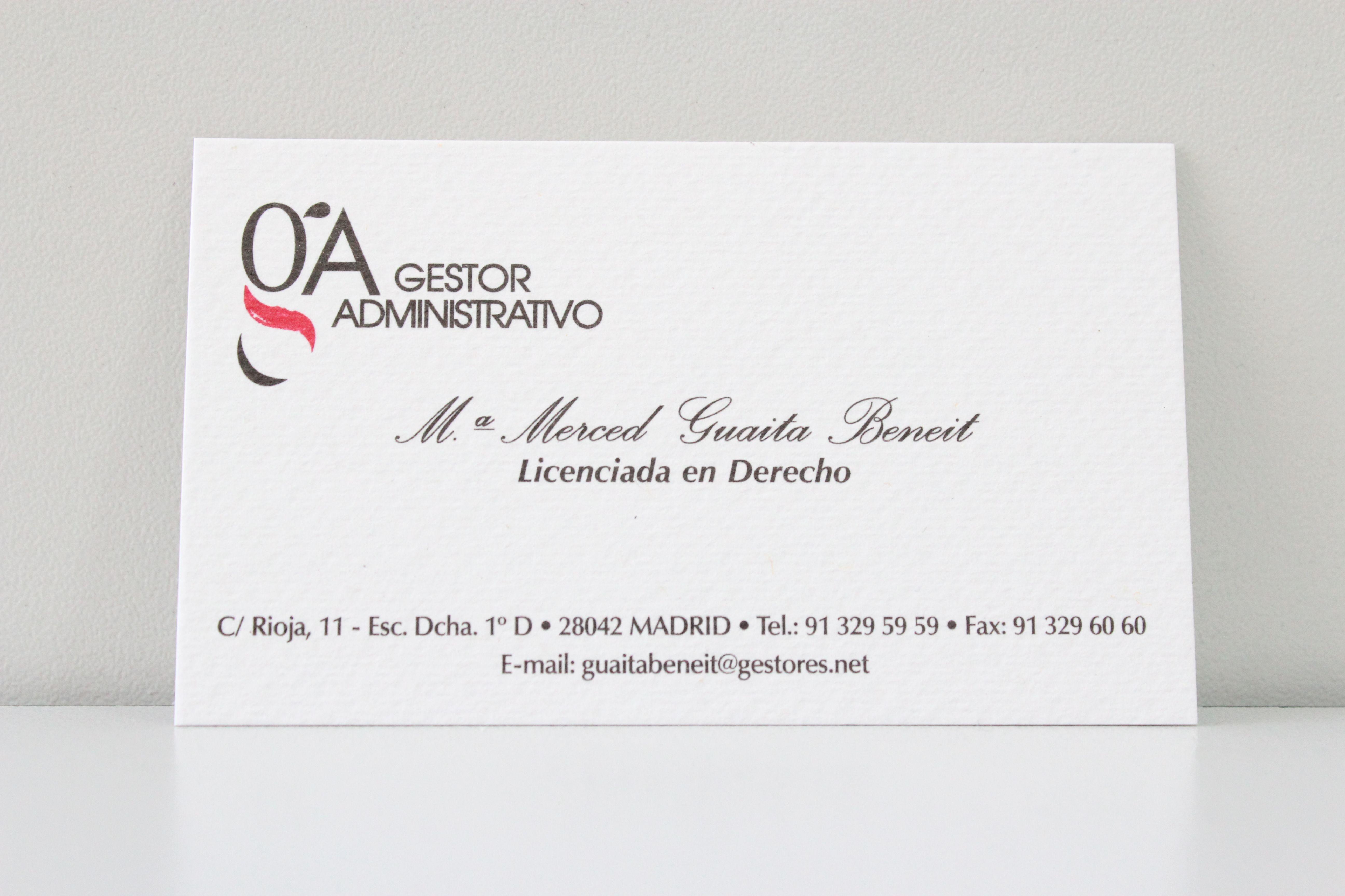 Foto 3 de Gestorías administrativas en Madrid | Gestoría Guaita Beneit