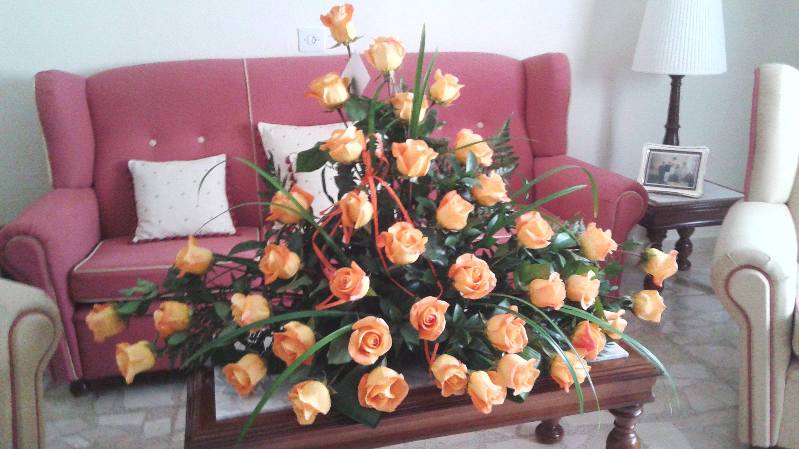 Centro rosas naranjas 1: Productos de ARTE Y JARDIN