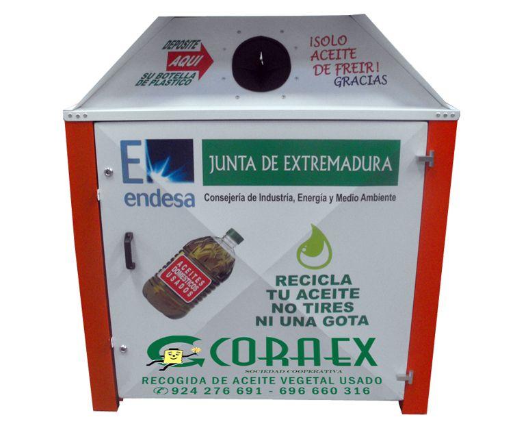 Instalación de bidones para recogida de aceites vegetales en Extremadura