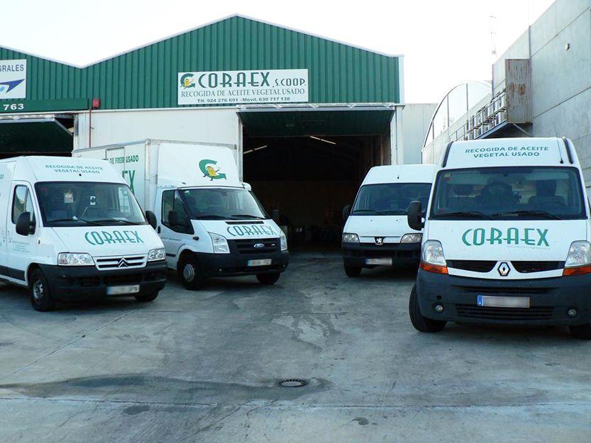 Coraex, reciclaje aceite vegetal en Extremadura