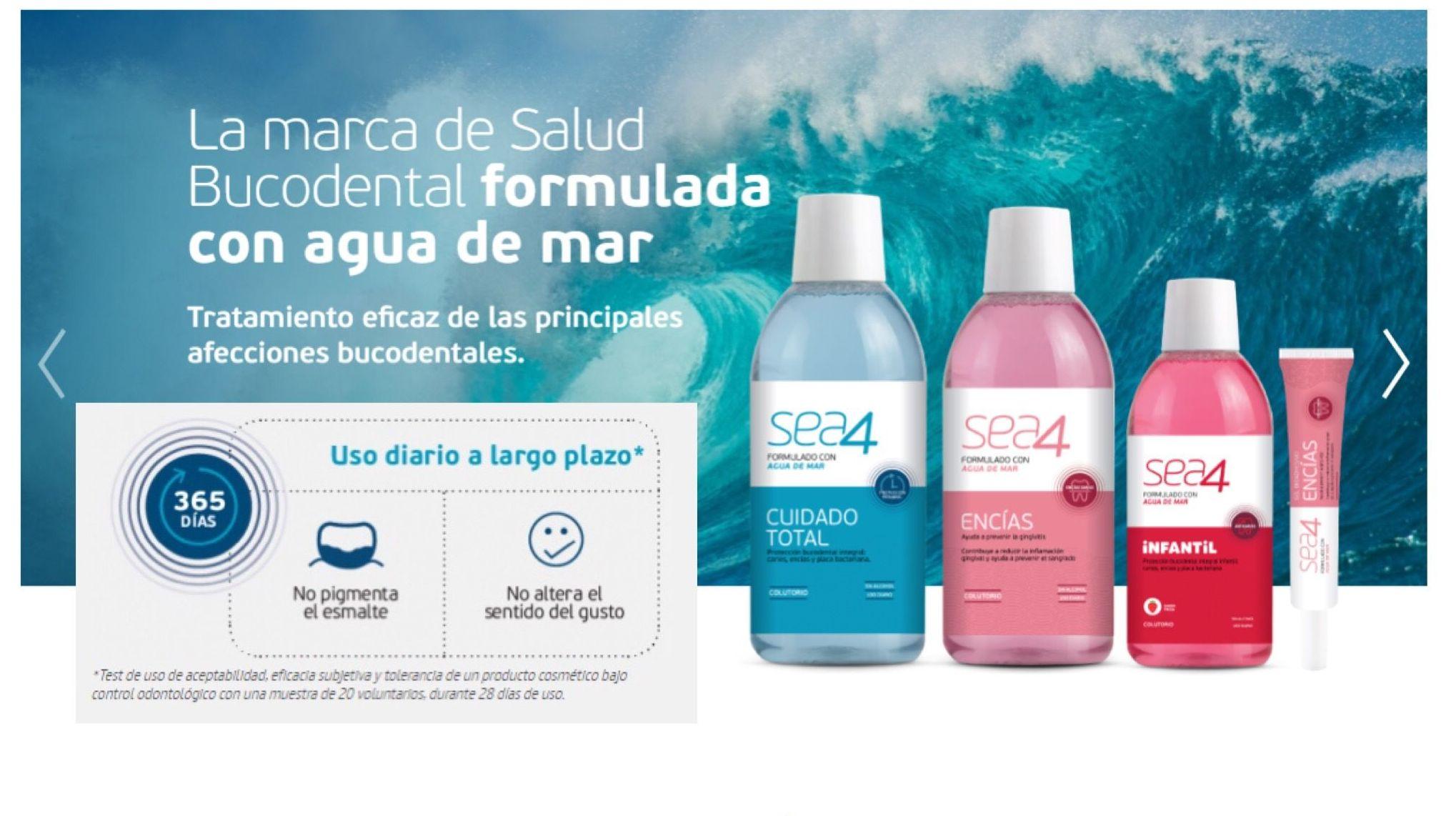 NOVETAT!!!  SEA 4. Marca de salut bucodental formulada amb aigua de mar.
