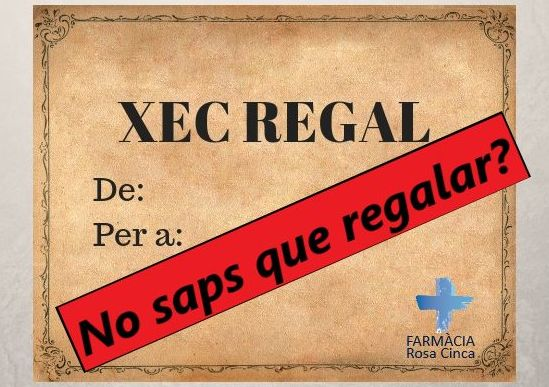 No saps que regalar? XEC REGAL!