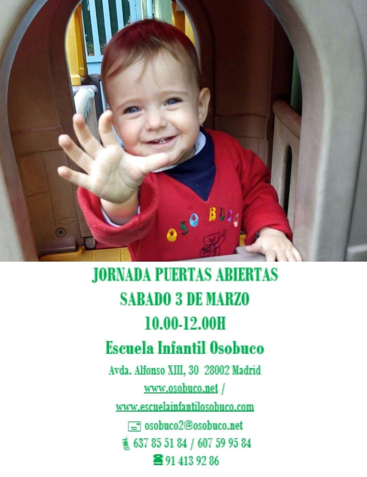 JORNADA DE PUERTAS ABIERTAS SÁBADO 3 DE MARZO 10.00-12.00H