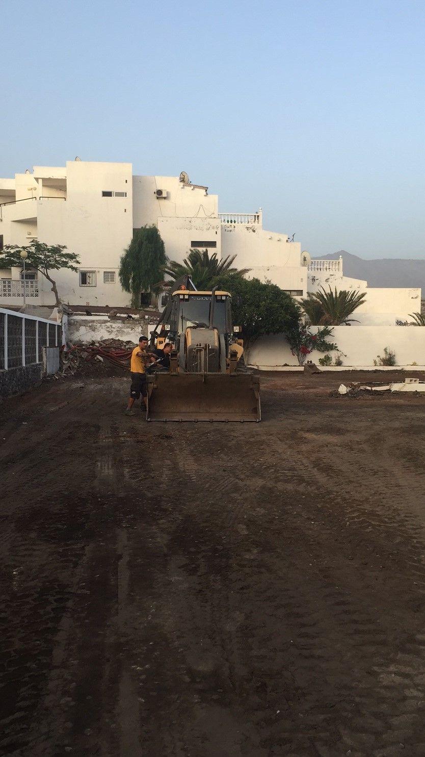 Acondicionamiento de parking en Callao Salvaje (Adeje)