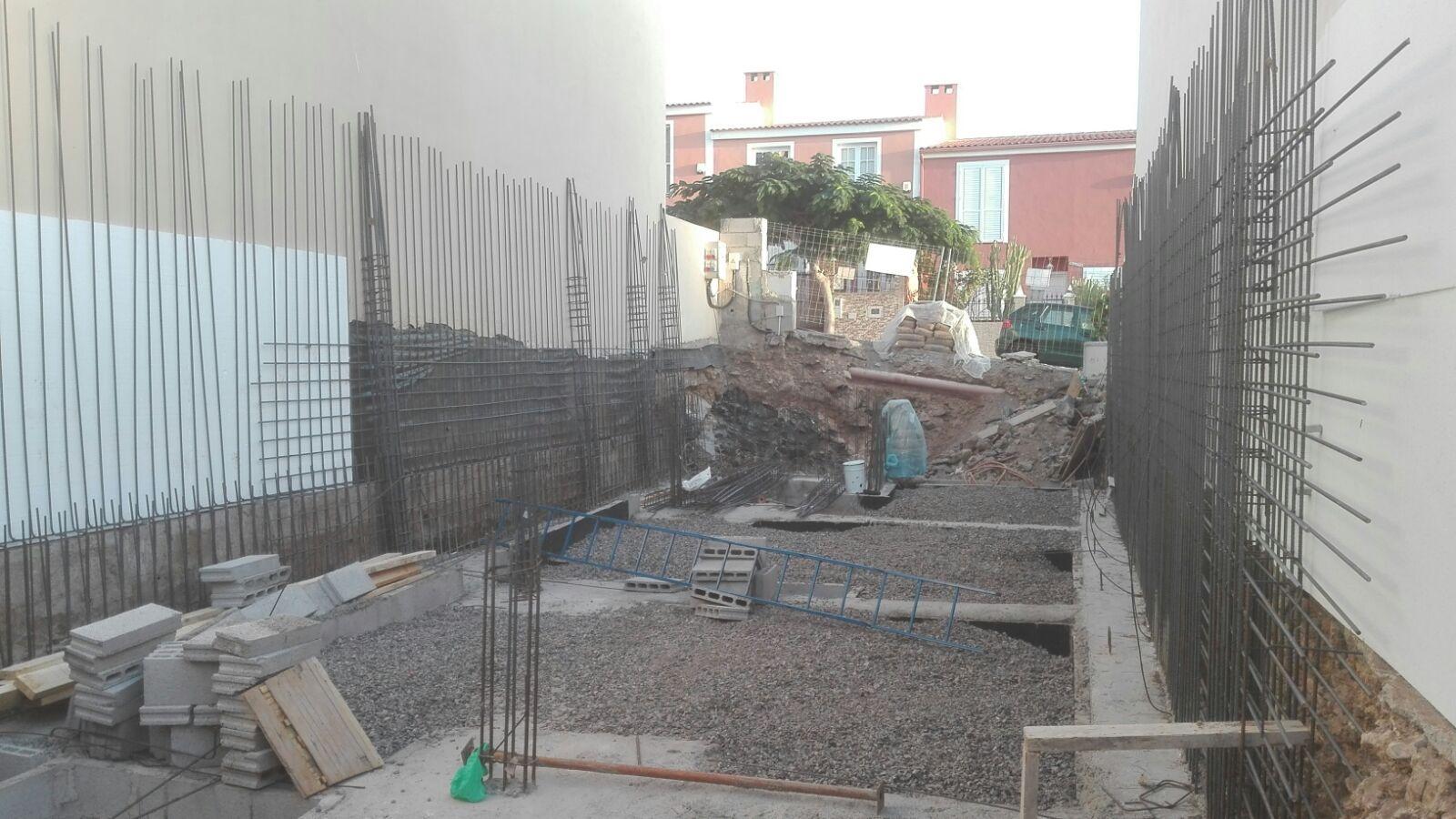Vivienda unifamiliar en construcción en Piedra Hincada
