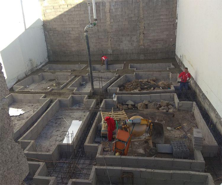 Excavación de piscina en Callao Salvaje